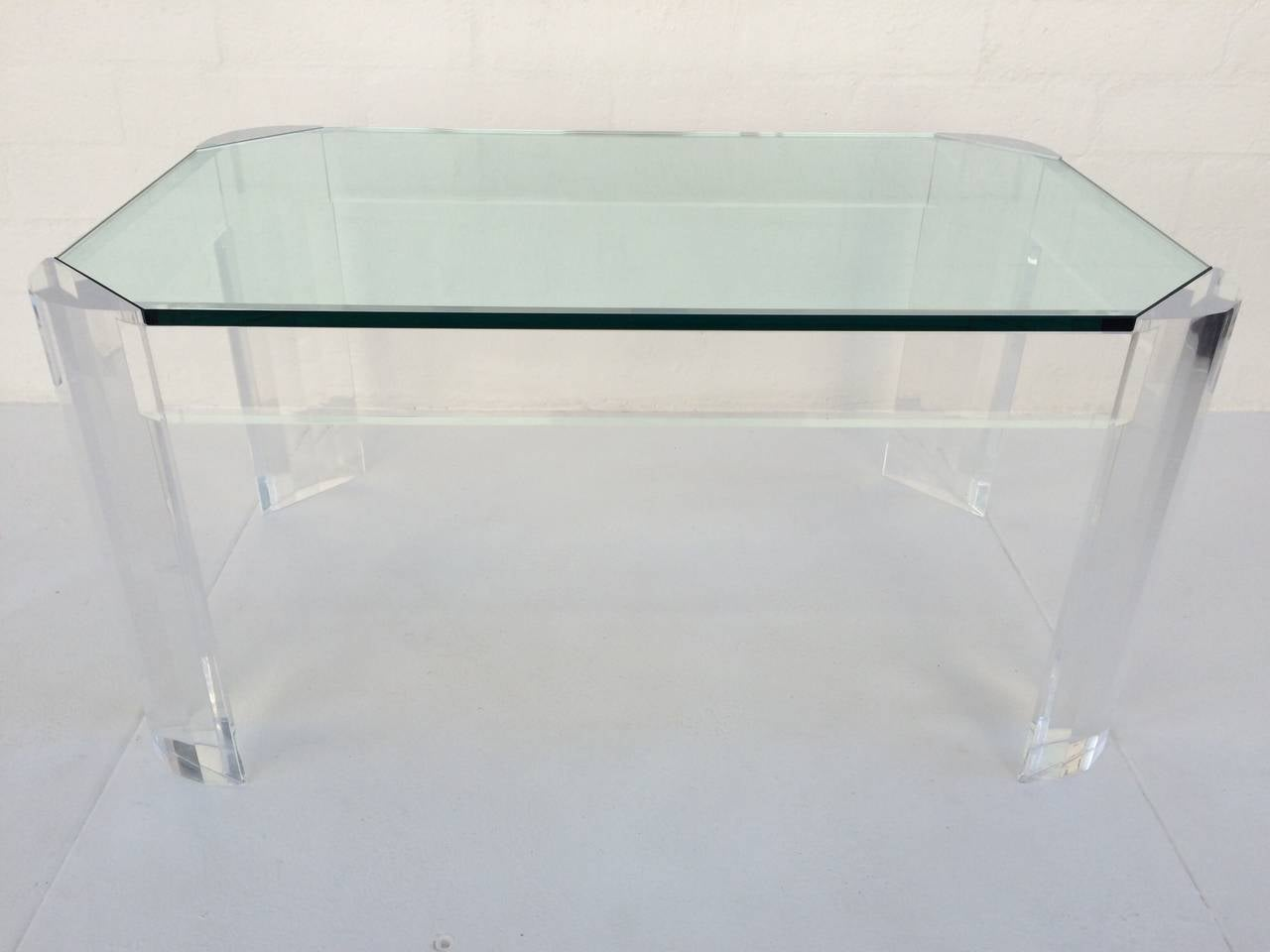 Acrylic and glass coffee or cocktail table for sale at 1stdibs for Acrylic coffee tables for sale