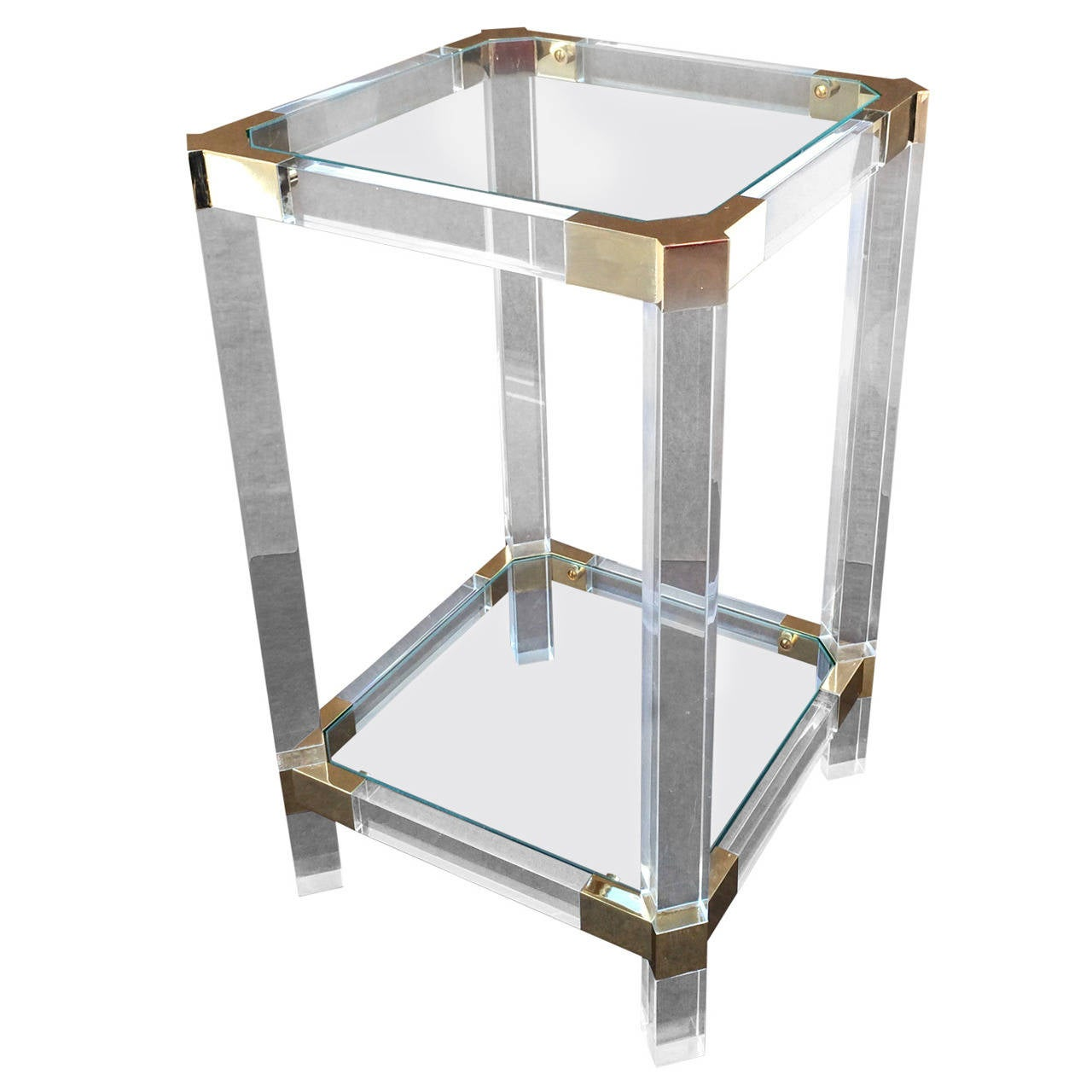 Acrylic And Glass Side Table By Charles Hollis Jones At