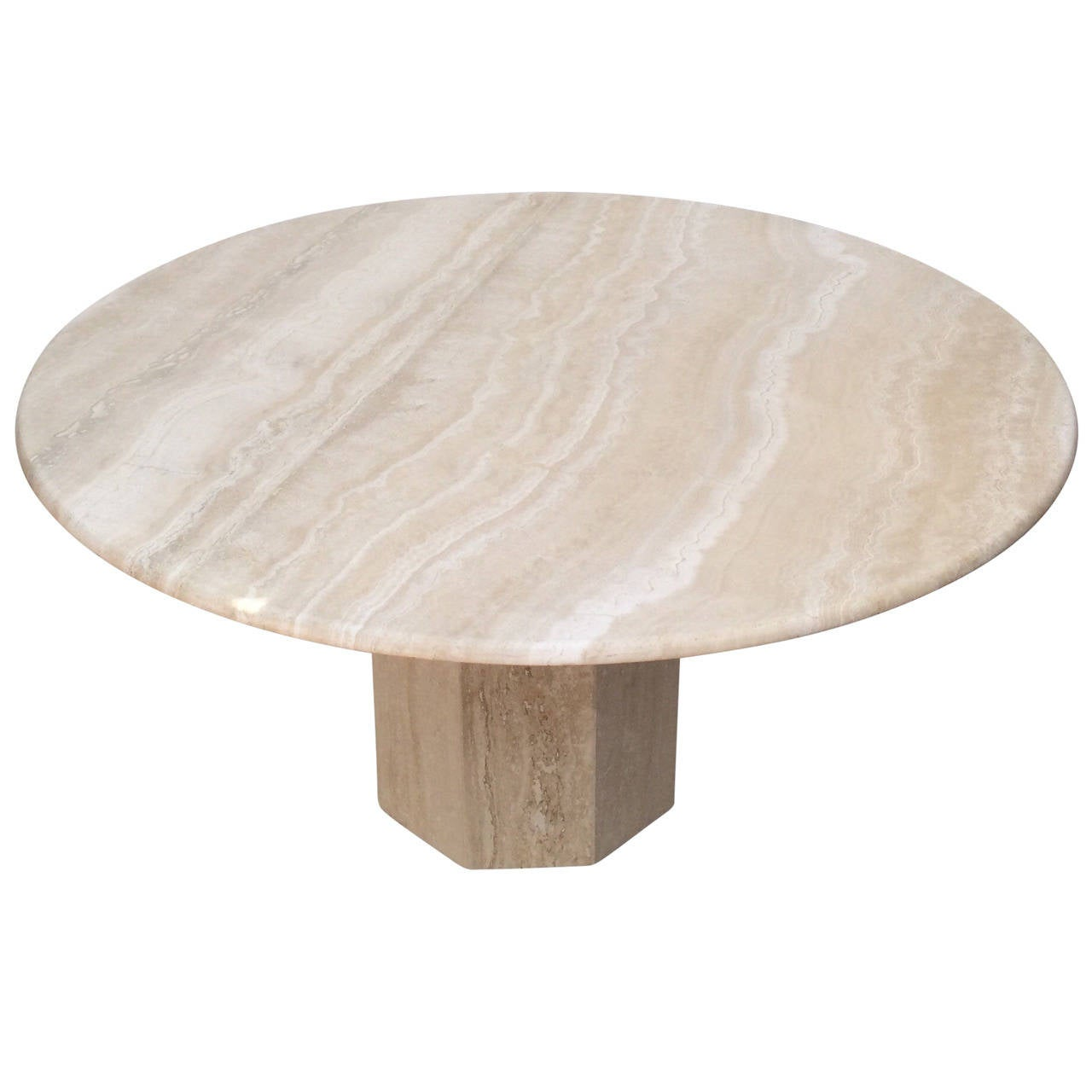 Travertine Dining Room Table Travertine Dining Table At 1stdibs
