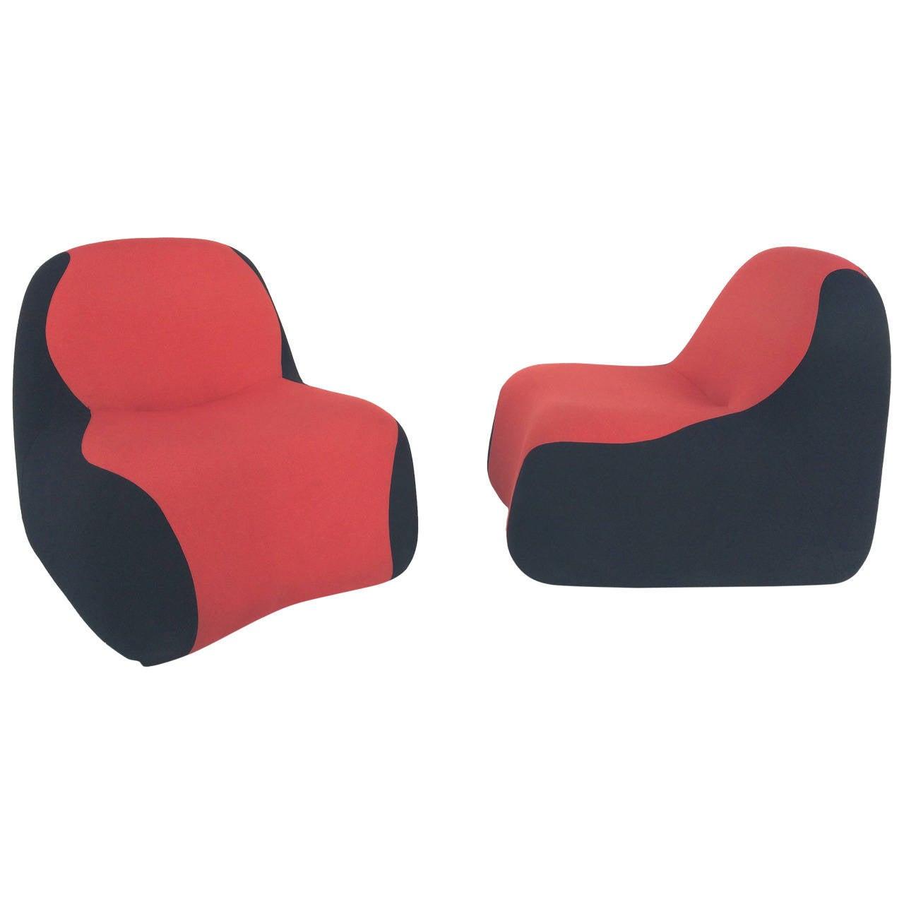 Karim Rashid Furniture Pair Of Blob Chairs Designed By Karim Rashid For Sale At 1stdibs