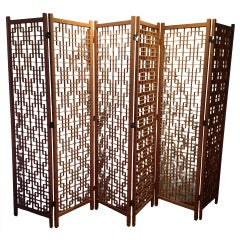 Stunning 6 Panel Danish Teak Screen