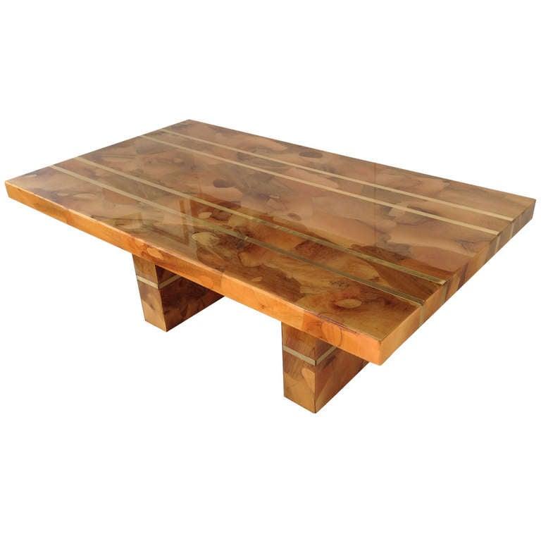 Custom Built Dining Room Tables: Spectacular Custom-Made Oyster Burl Wood Dining Table