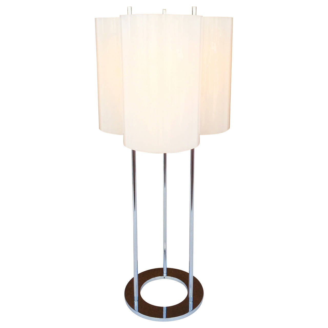 Acrylic and polished chrome lamp by paul mayen for habitat for Habitat chrome floor lamp