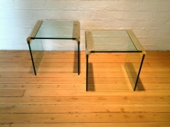 Brass And Glass Side Tables By Pace Collection image 3