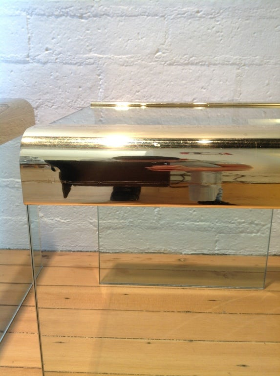 Brass And Glass Side Tables By Pace Collection For Sale 2