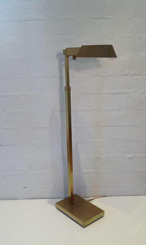 Casella brushed brass adjustable floor lamp at 1stdibs for Casella brass floor lamp