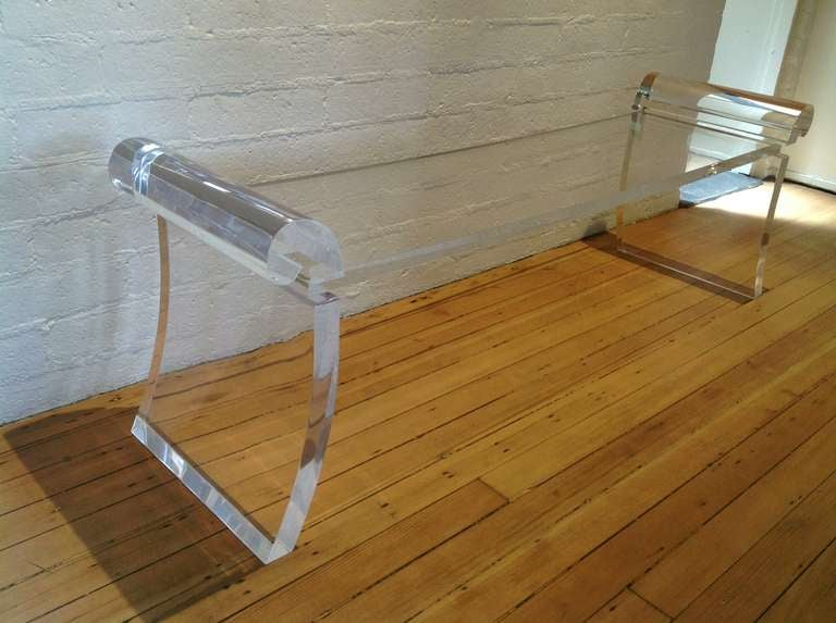 Elegant Acrylic Bench At 1stdibs