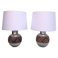 Pair of Ceramic Table Lamps by Bitossi