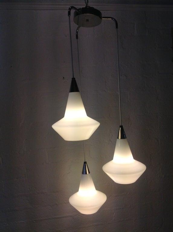 Three Level Pendant Hanging Light Fixture At 1stdibs