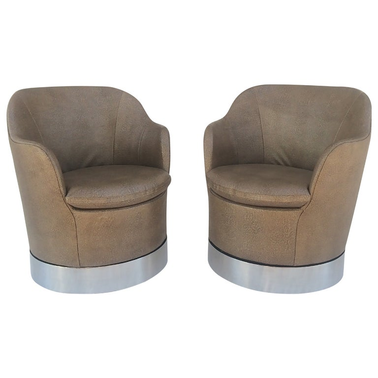 Swivel Lounge Chairs Designed by Phillip Enfield For Sale
