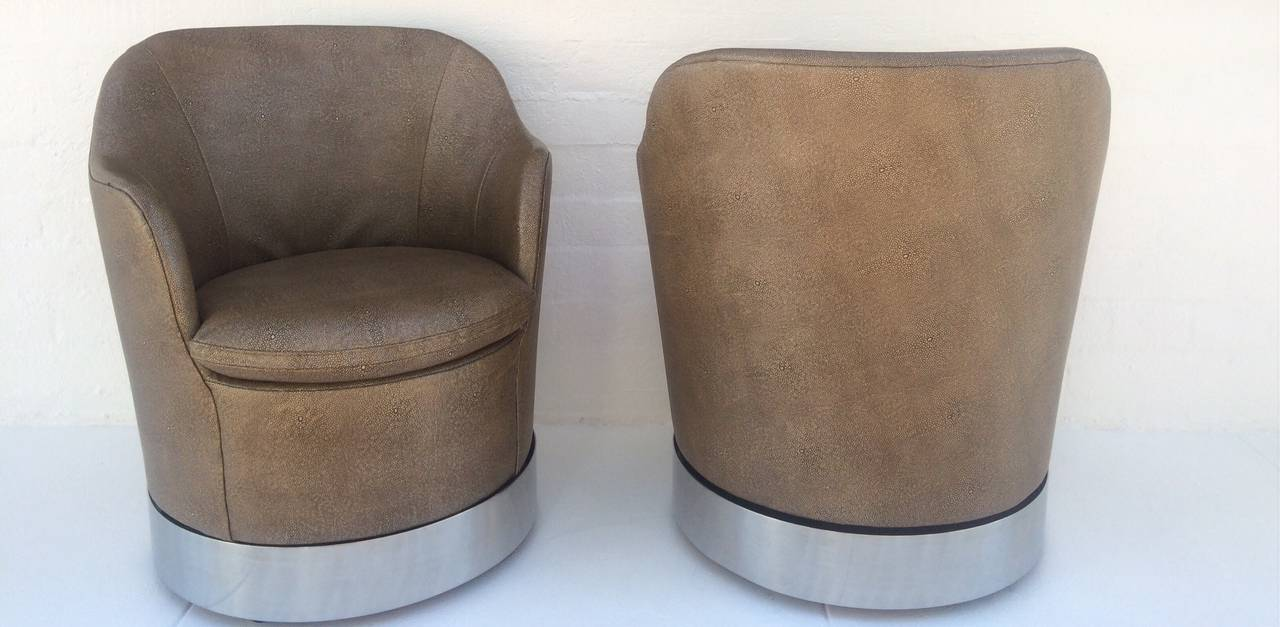 American Swivel Lounge Chairs Designed by Phillip Enfield For Sale