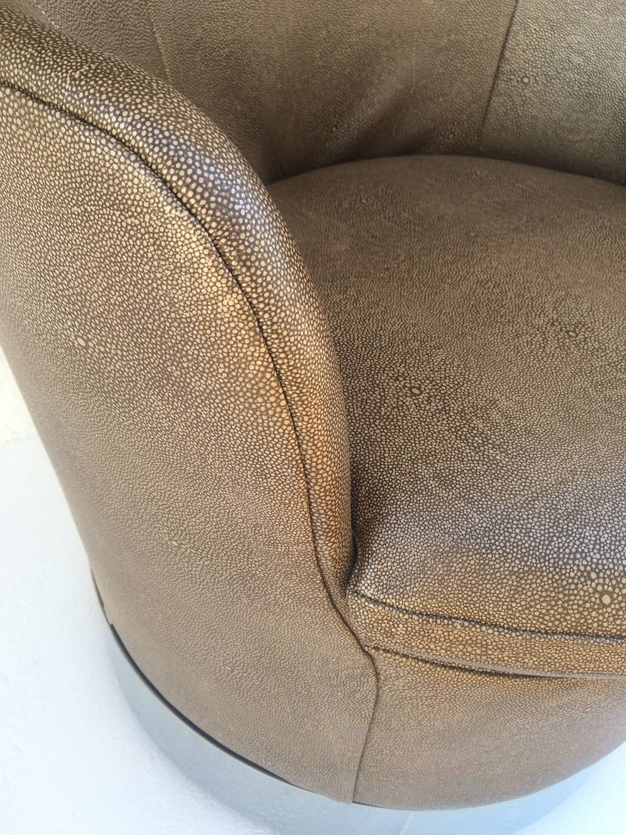 Swivel Lounge Chairs Designed by Phillip Enfield For Sale 1