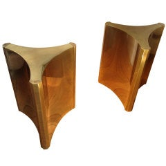 A Pair of Mastercraft Triangulated Table Bases