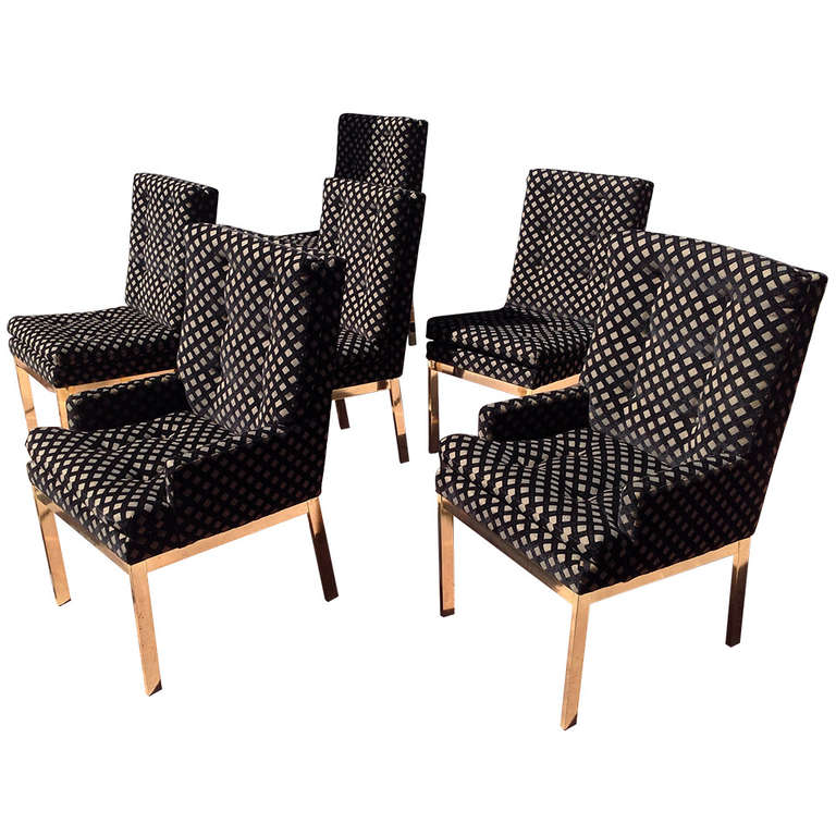 Set of Six Dining Chairs Designed by Milo Baughman