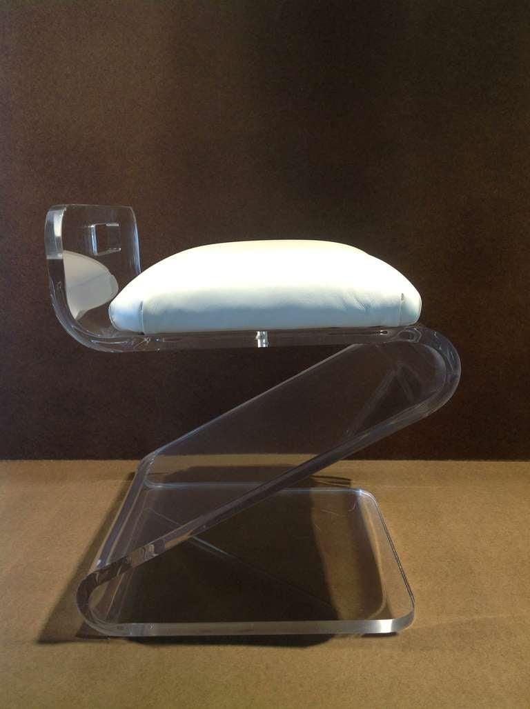 Acrylic vanity stool by gary gutterman image 4 - Acrylic vanity chair ...