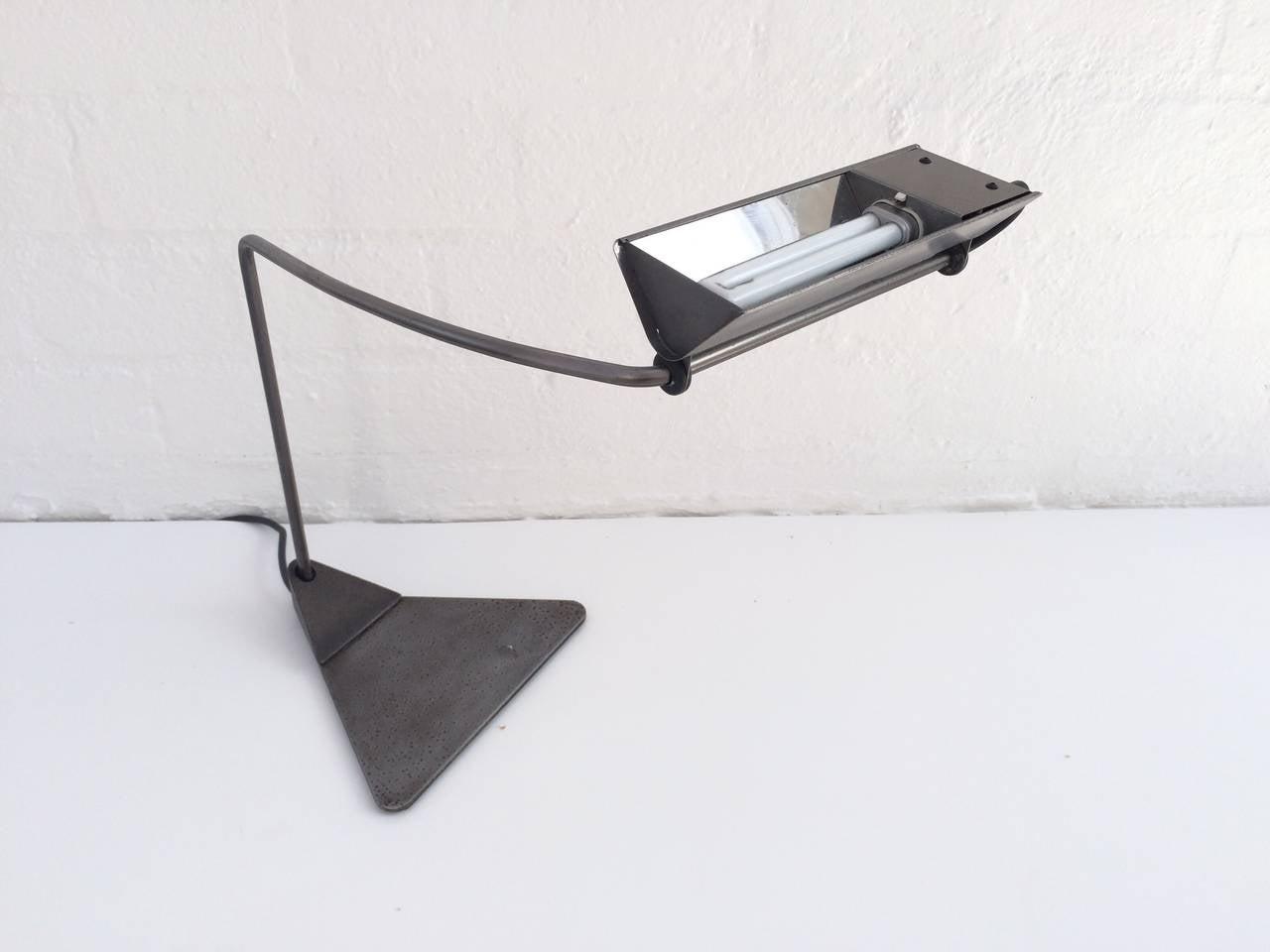 Ron Rezek Raw Steel Desk Lamp For Sale At 1stdibs