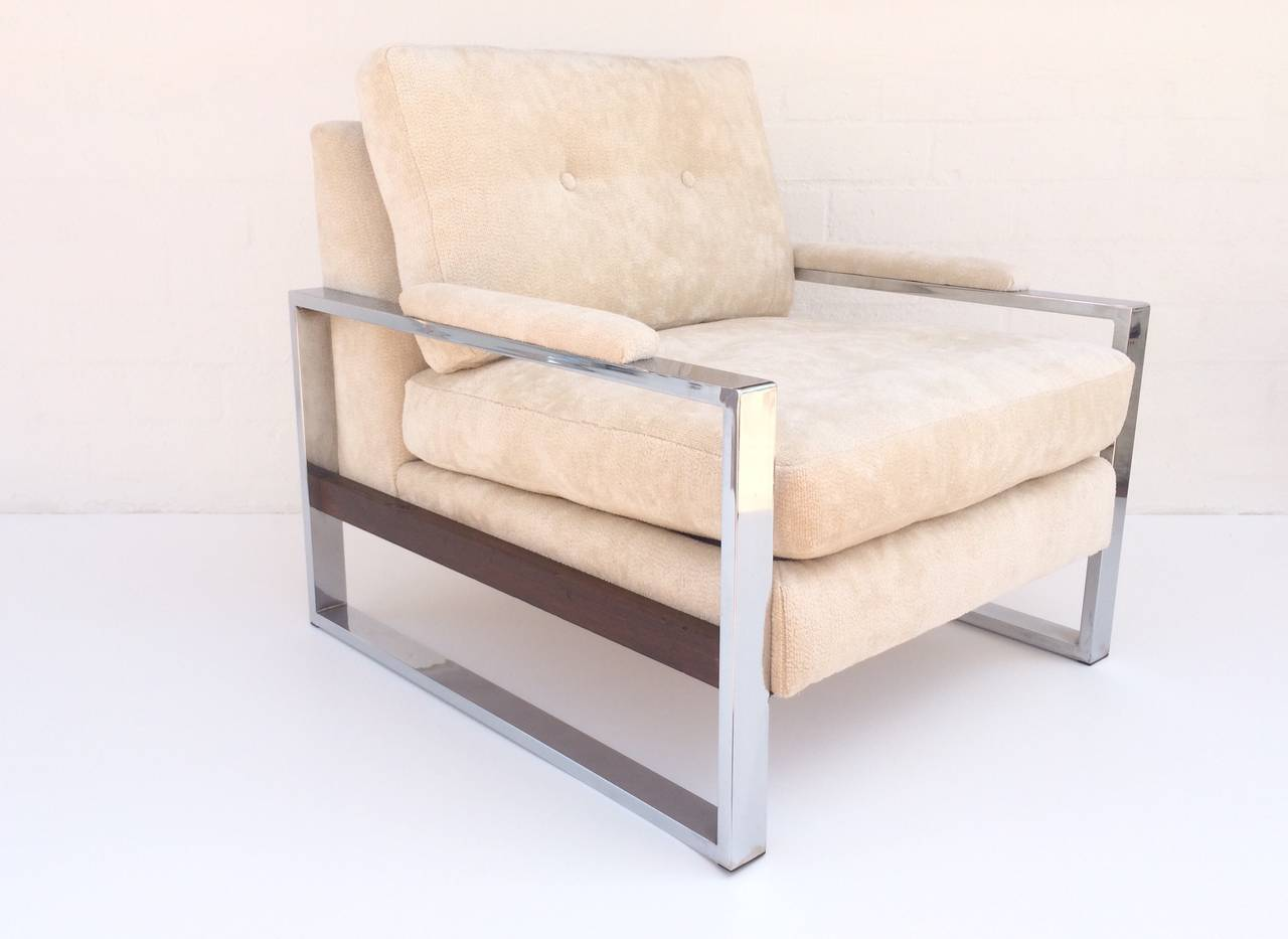Loveseat And Matching Lounge Chair By Milo Baughman At 1stdibs