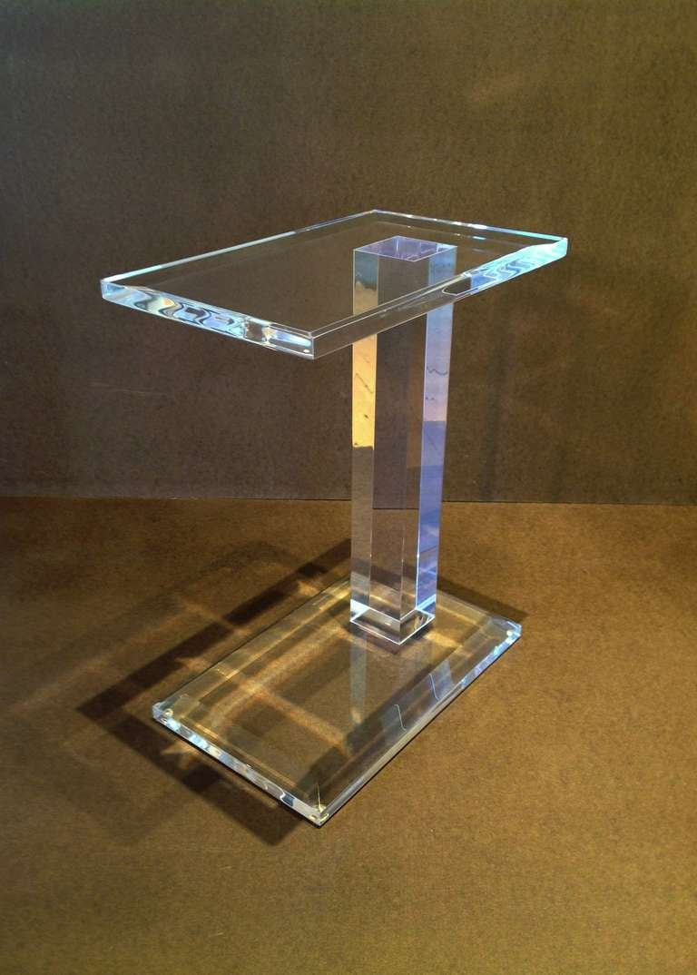 elegant acrylic side table at 1stdibs