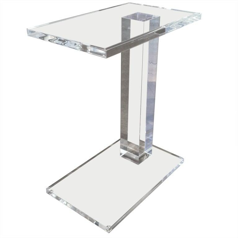 Elegant Acrylic Side Table