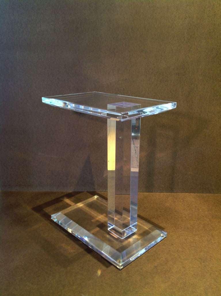 Elegant Acrylic Side Table at 1stdibs