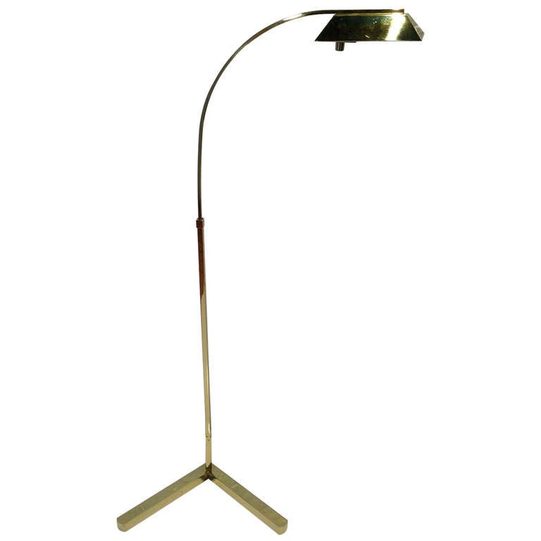 Polished Brass Casella Floor lamp