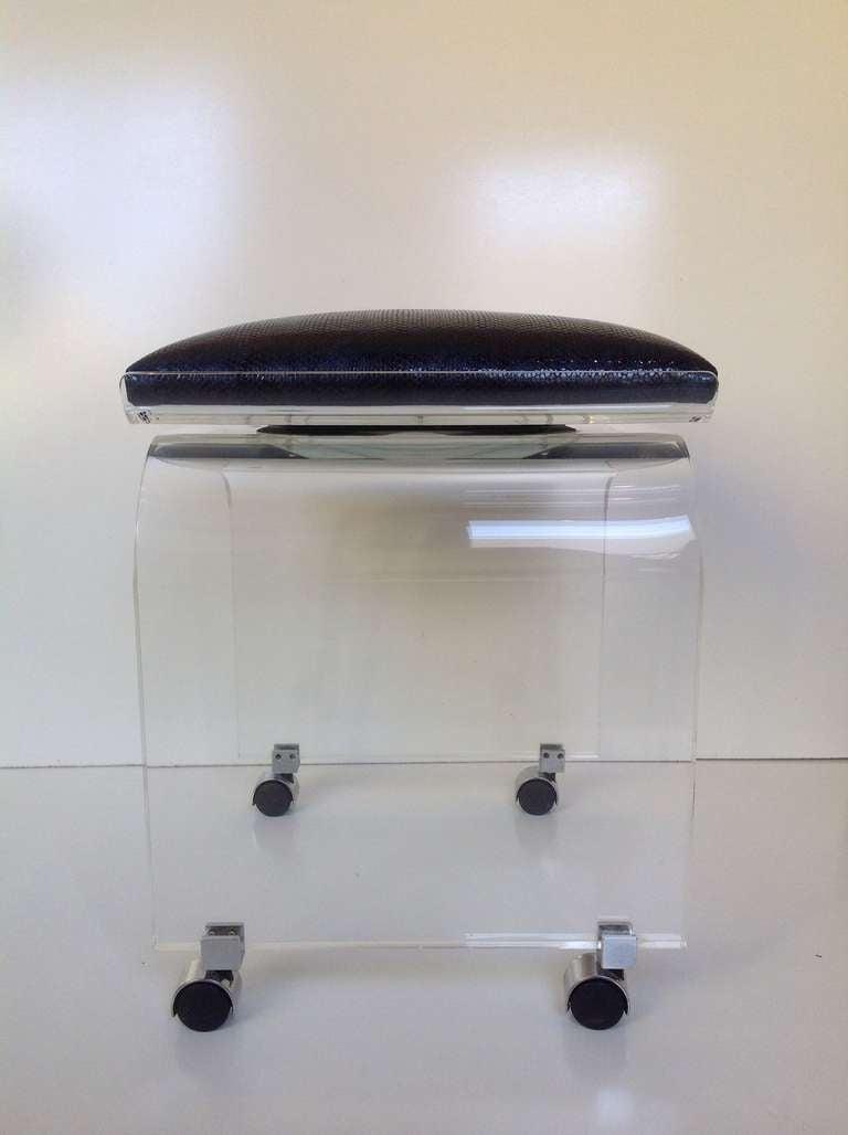 acrylic swivel top vanity stool designed by charles hollis jones image