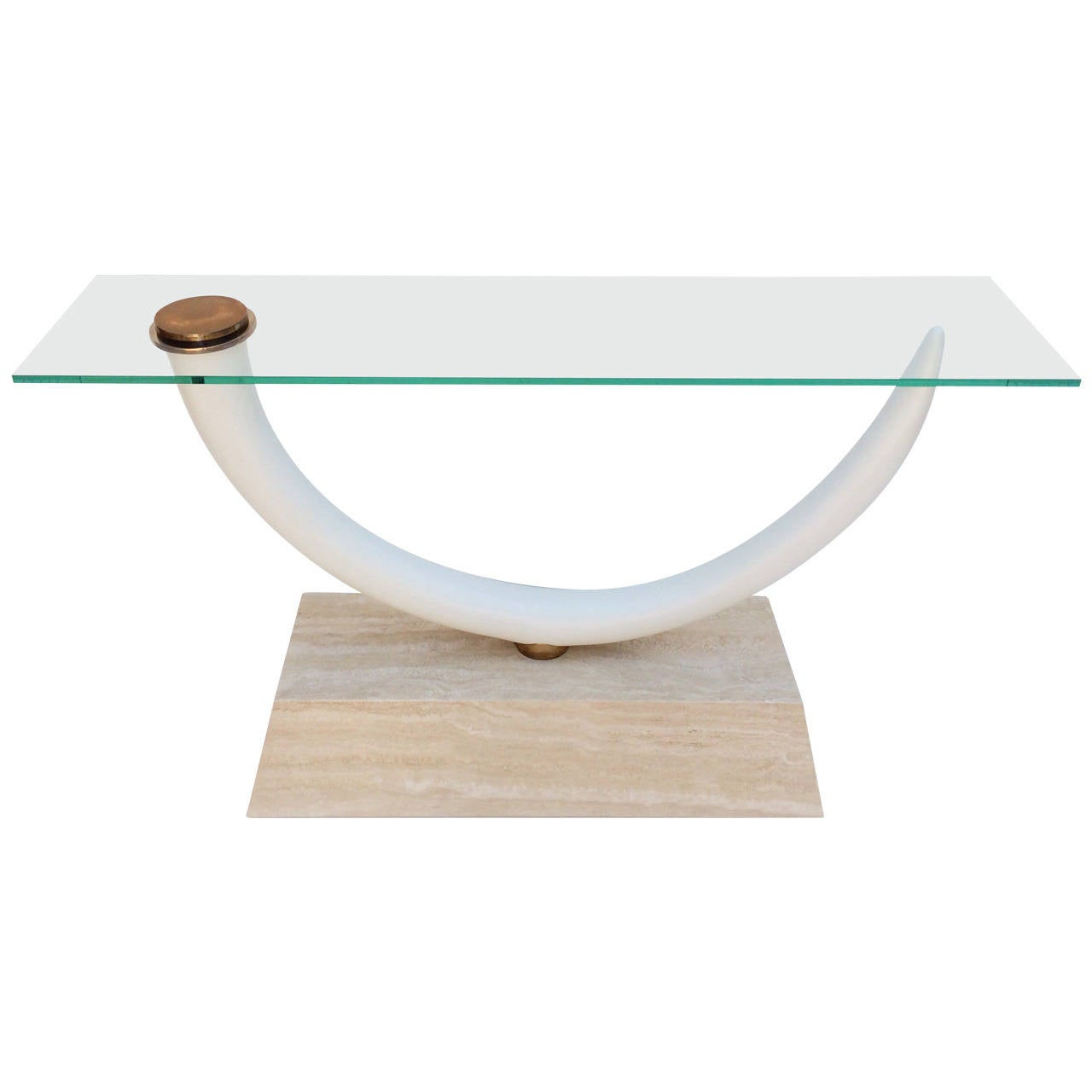 Faux tusk console table by maitland smith at 1stdibs faux tusk console table by maitland smith 1 geotapseo Images