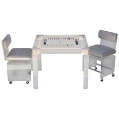 Custom Made Acrylic Backgammon Table and Chairs by Charles Hollis Jones