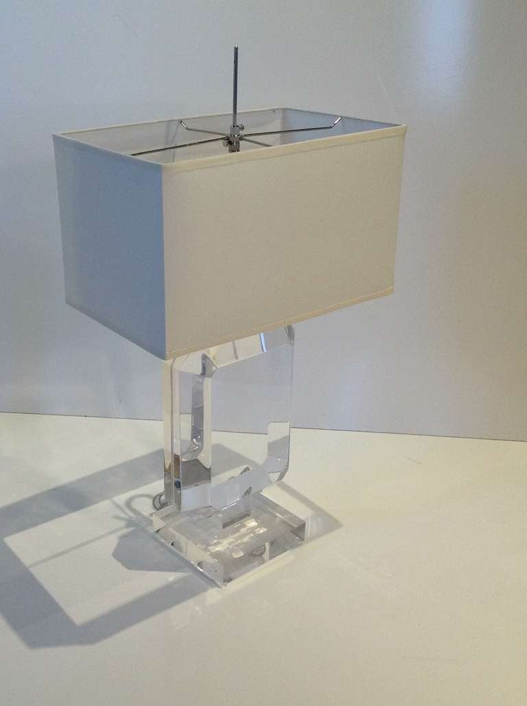 Les Prismatiques Acrylic Table Lamp For Sale At 1stdibs