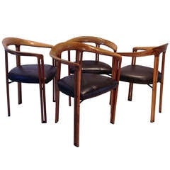 Set of four  Ulna Chairs by Franco Poli