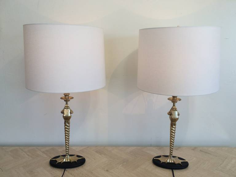 These Whimsical Brass Frog Table Lamps Are Almost Never Available In A  Pair. They Each