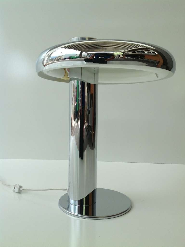 Chrome Table Desk Lamp By Laurel For Sale At 1stdibs