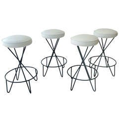 Set of four Bar Stools designed by Paul Tuttle