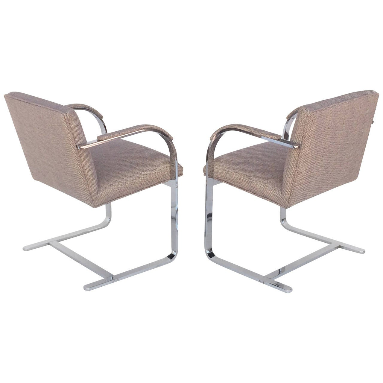 pair of early brno chairs designed by mies van der rohe for thonet at 1stdibs. Black Bedroom Furniture Sets. Home Design Ideas