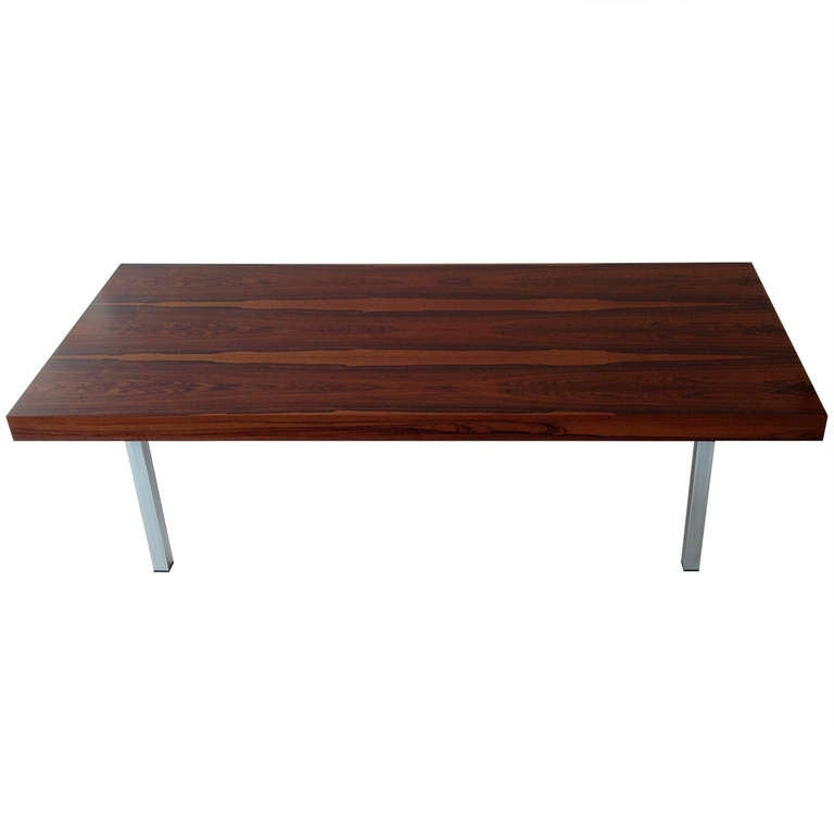 Rosewood Coffee Table Designed By Milo Baughman At 1stdibs