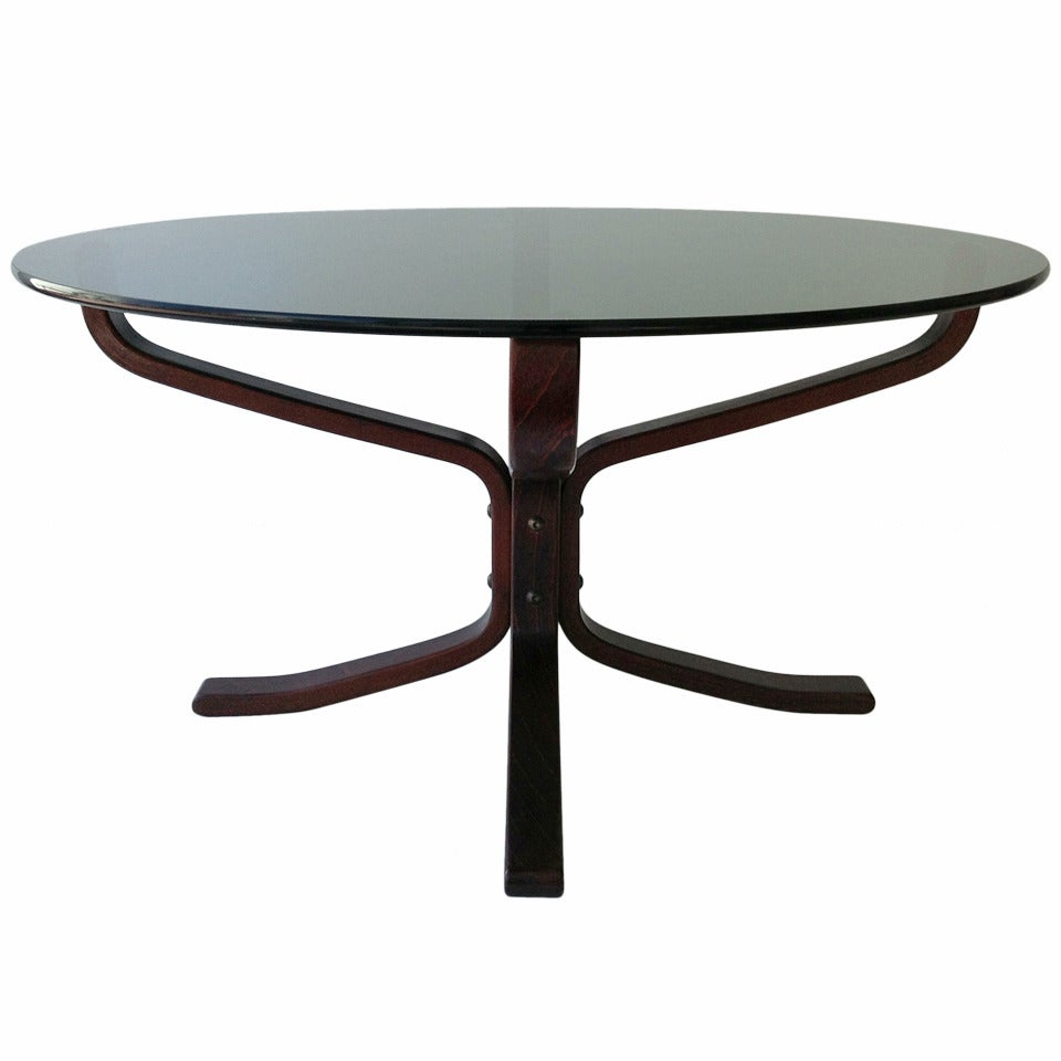 """""""Falcon"""" Rosewood Coffee Table designed by Sigurd Resell"""