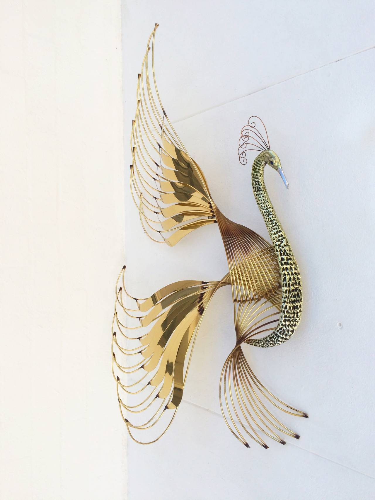 Bird of Paradise Wall Sculpture by Curtis Jere 2