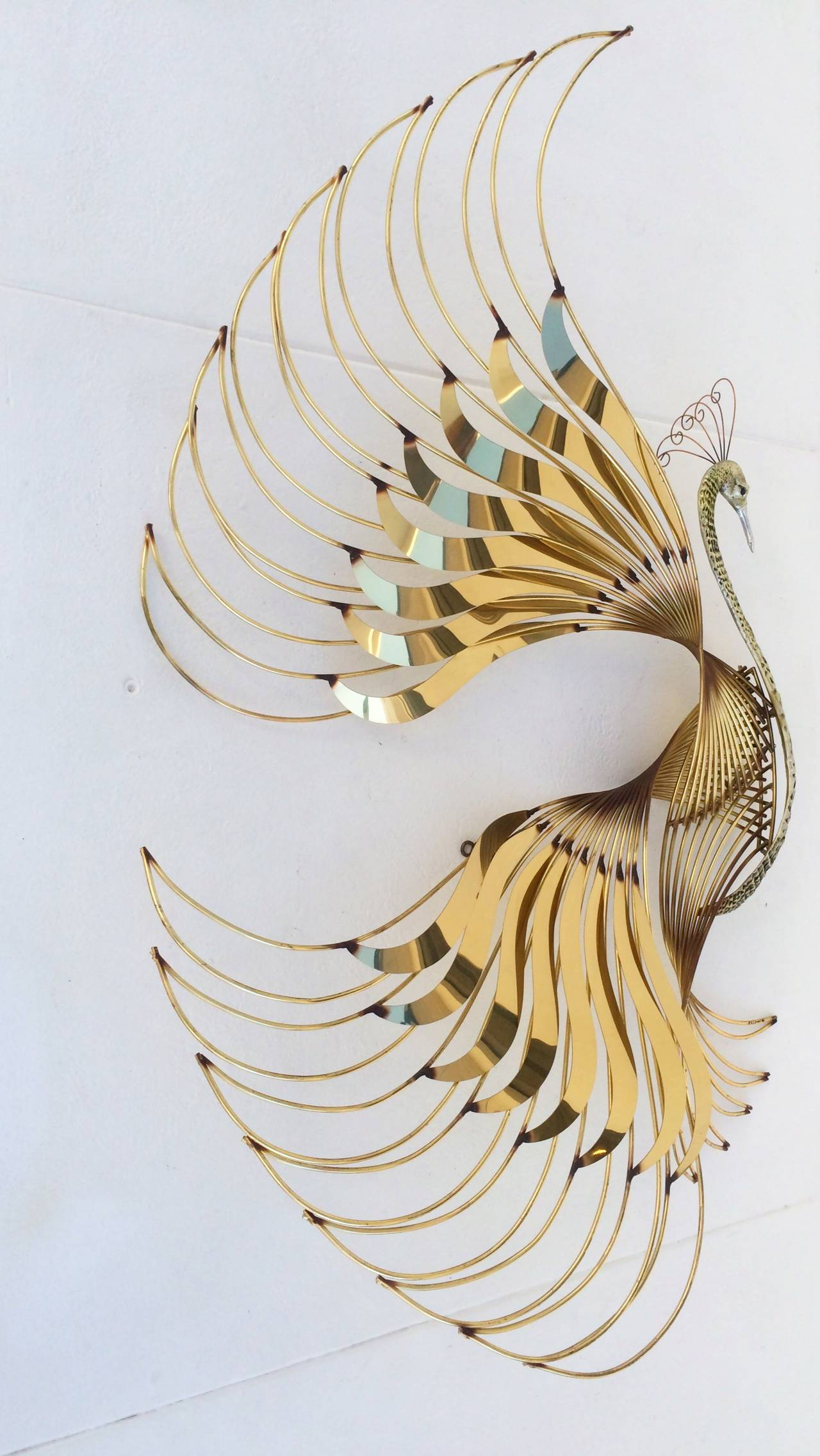 Bird of Paradise Wall Sculpture by Curtis Jere 3