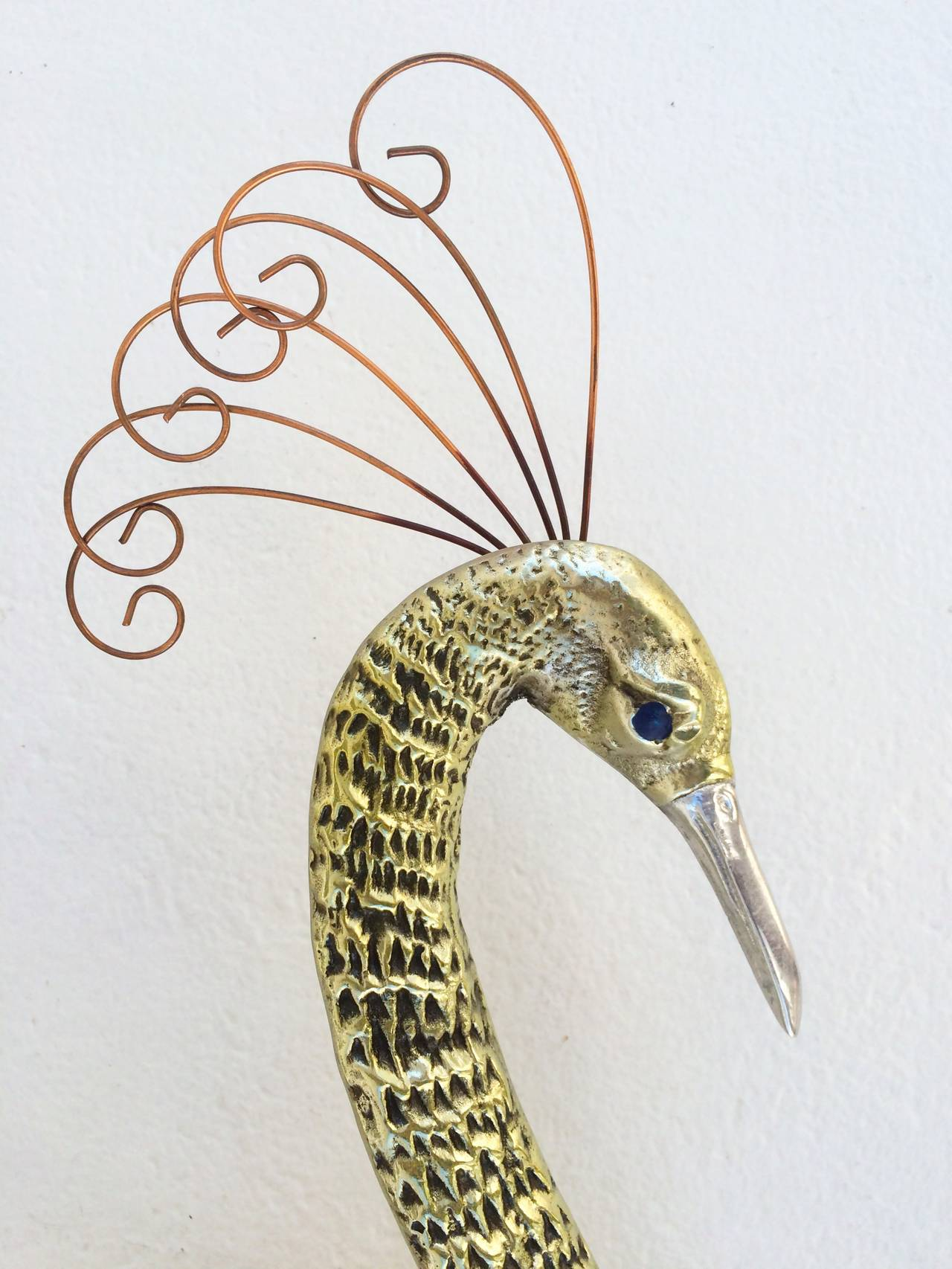 Bird of Paradise Wall Sculpture by Curtis Jere 4