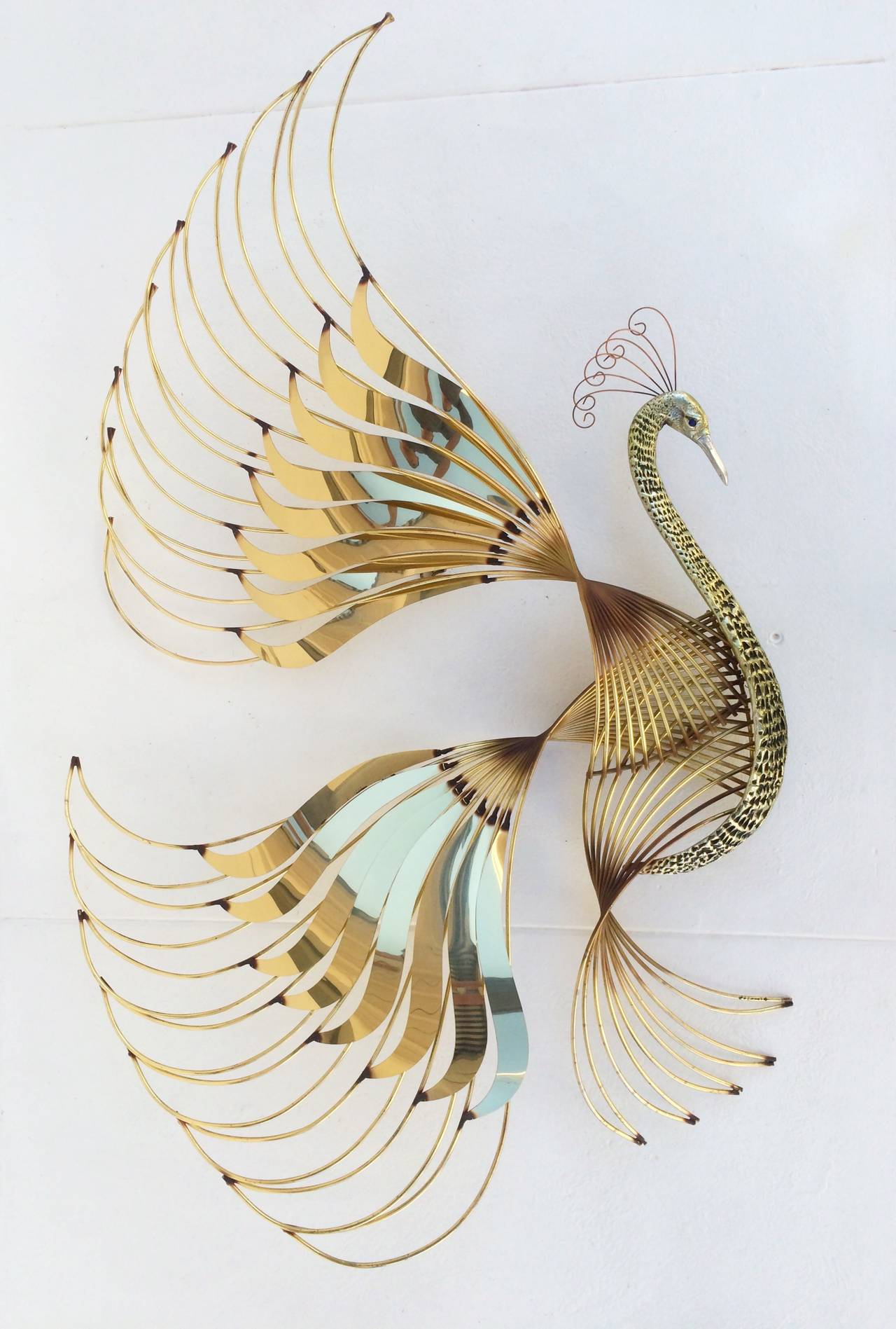 Bird of Paradise Wall Sculpture by Curtis Jere 5