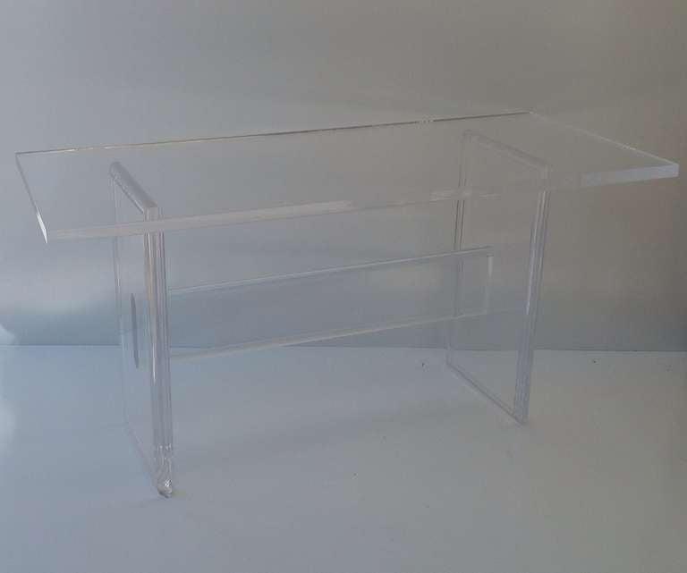 Acrylic Desk Designed By Charles Hollis Jones at 1stdibs
