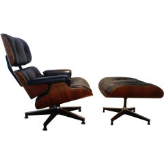 Rosewood Eames lounge and ottoman
