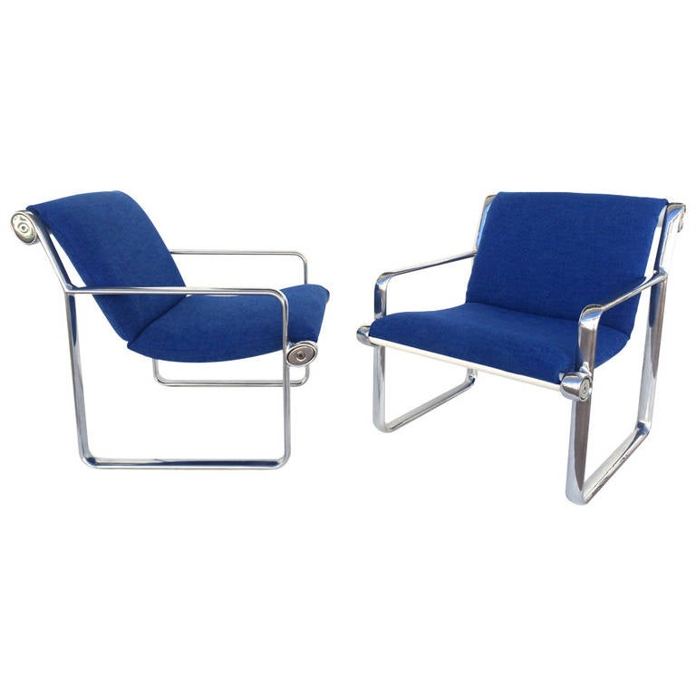 Hannah Morrison Sling Lounge Chairs for Knoll at 1stdibs