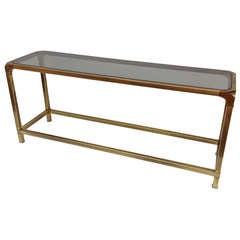 Antique Brass Console by Mastercraft