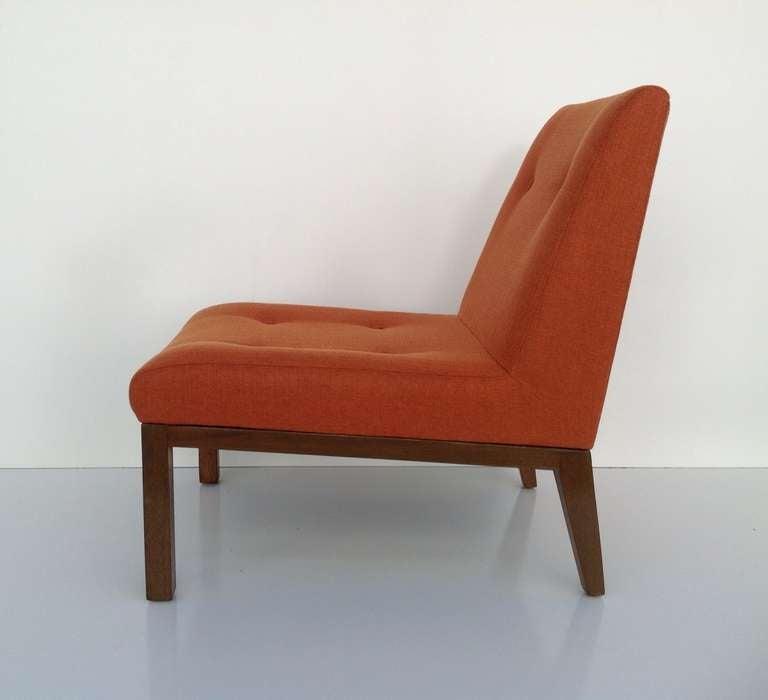 Mid-Century Modern Slipper Chair by Edward Wormley for Dunbar For Sale