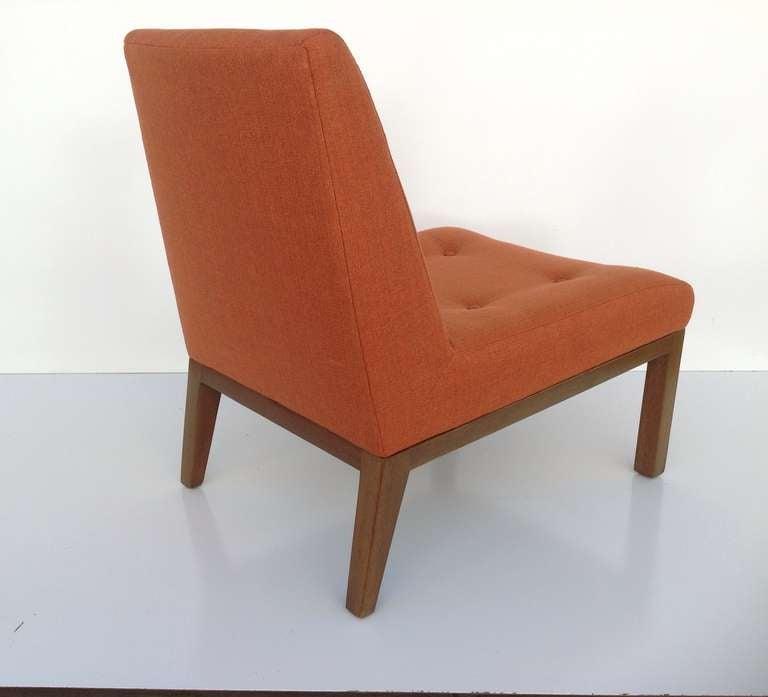 Fabric Slipper Chair by Edward Wormley for Dunbar For Sale