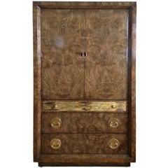 Mastercraft Burle & Acid Etched Wardrobe Cabinet