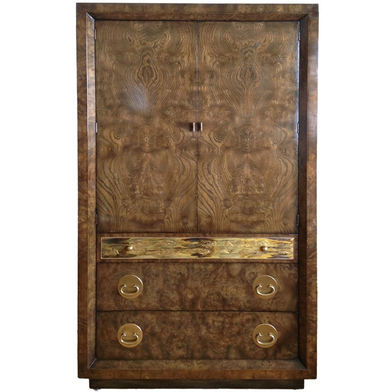 mastercraft burle and acid etched wardrobe cabinet at 1stdibs