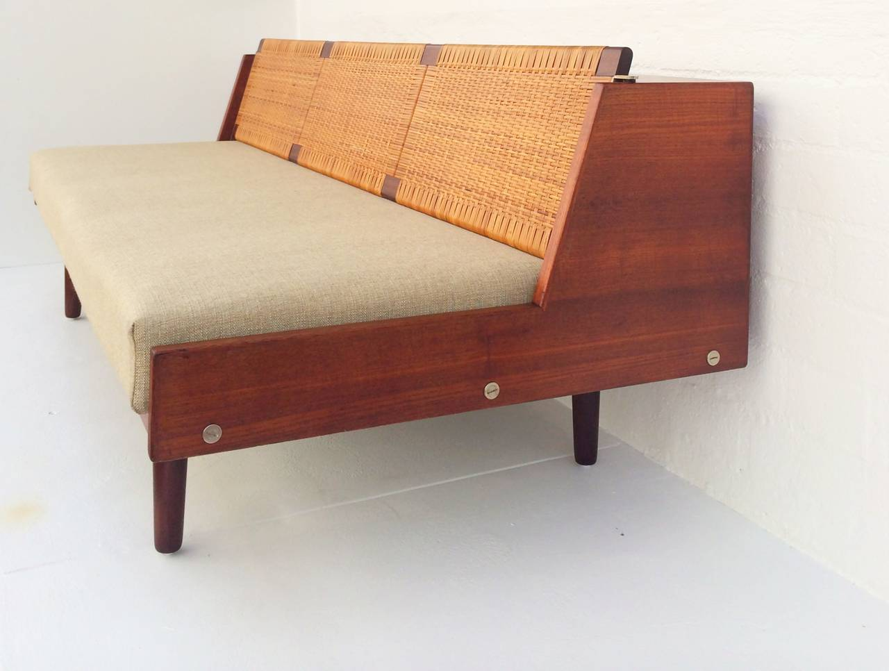 Teak And Rattan Daybed By Hans Wegner For Getama At 1stdibs