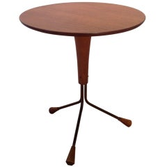 A side table by Alberts of Sweden designed by Albert Larsson